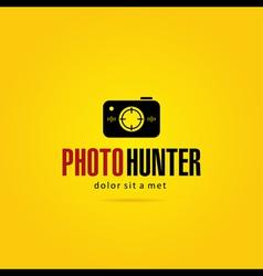 Photo hunter logo template vector