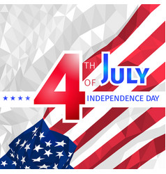 Polygonal usa flag 4th of july independence day vector