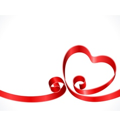 ribbon heart vector image
