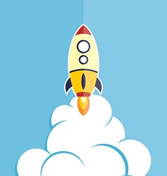 Rocket ship launch vector