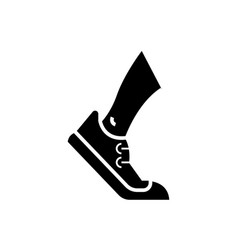 running - tracking icon vector image