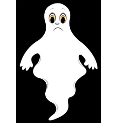 sad ghost vector image vector image