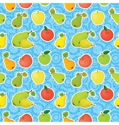 Seamless background apples and pears vector image vector image