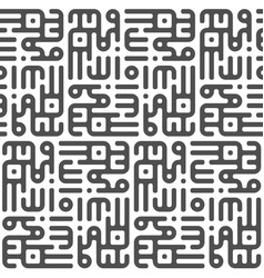 seamless pattern in the style of kufic script in vector image vector image