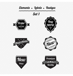 Set 1 elements labels and badges vector