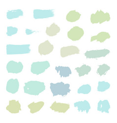 set of pastel paint brush objects vector image vector image