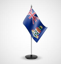 Table flag of cayman islands vector