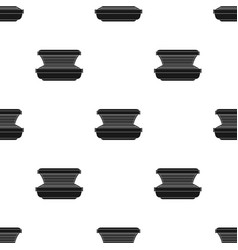 Tanning bed icon in black style isolated on white vector