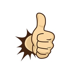 Thumbs up hand vector