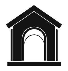 Toy house icon simple style vector