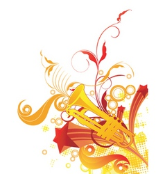 trumpet graphic vector image