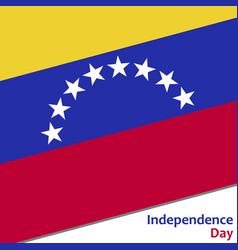 Venezuela independence day vector