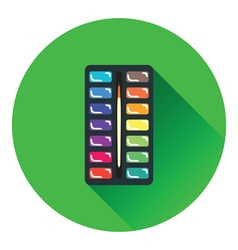 Watercolor paint-box icon vector image