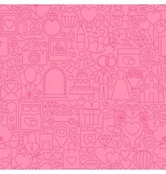 Wedding pink line tile pattern vector