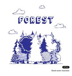 Woods vector image vector image