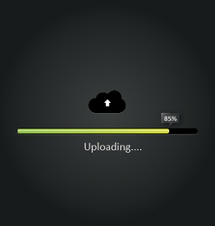 Cloud uploading progress bar vector