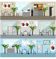 Office interior in flat style vector