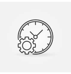 Time management concept outline icon vector