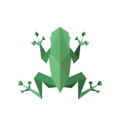 Frog polygon low poly faces sharp vector