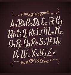 Hand drawn alphabet letters handwritten vector