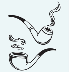 Set of tobacco pipes vector image