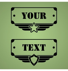 Military style tags vector