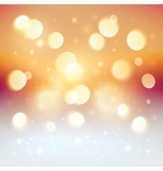 Red bokeh light effect Christmas background vector image