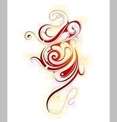 Liquid ornament vector