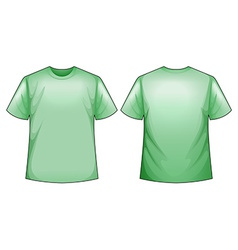 Green shirt vector