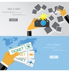 Take a shot and travel vector