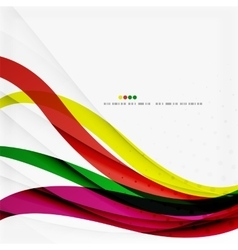 Rainbow color wave stripes vector image