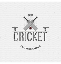 Cricket badges logos and labels for any use vector