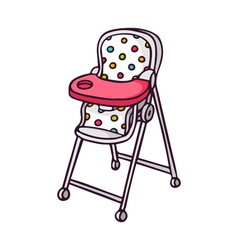 Baby feeding chair bright children isolated vector