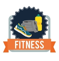 Fitness center design vector