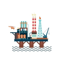 Oil factory platform vector