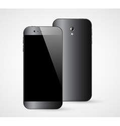 Smartphone front back view vector