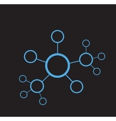 Blue network abstract vector