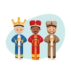 Three wise men icon merry christmas design vector