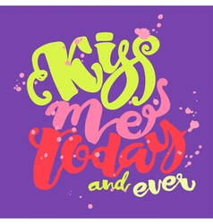 Kisses day lettering inspiration poster vector