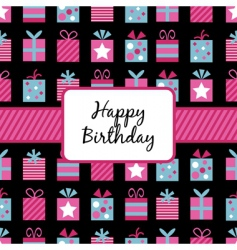 birthday wrapping vector image vector image