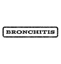 Bronchitis watermark stamp vector