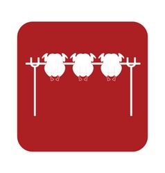 Chicken barbecue icon vector