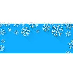Christmas abstract snow banner vector image