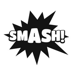 Comic boom smash icon simple black style vector