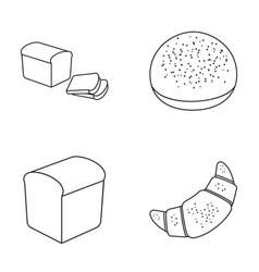 Croissant half sliced bread burger for a vector