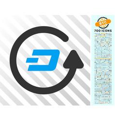 Dash refund flat icon with bonus vector