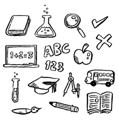 doodle series - education vector image
