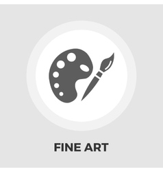 Fine arts flat icon vector