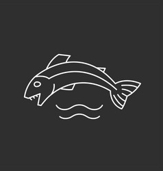 Fish and waves vector