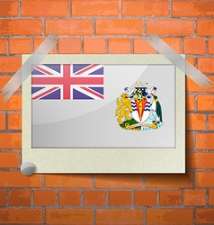 Flags british antarctic territory scotch taped to vector